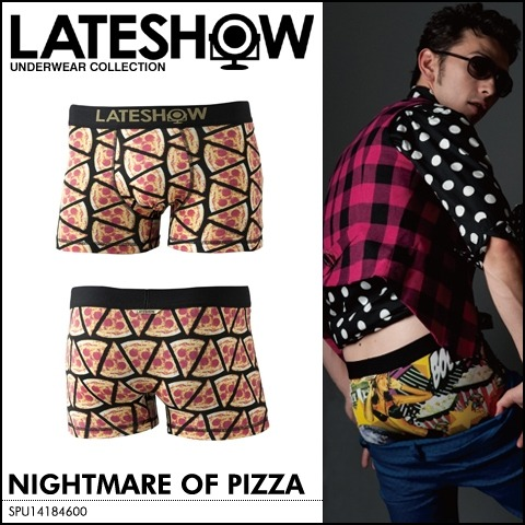 japanesefashioninferno:  Nightmare of Pizza underwear by LATESHOW