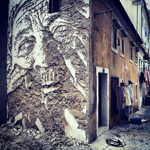 VHILS IN LISBON, PORTUGAL