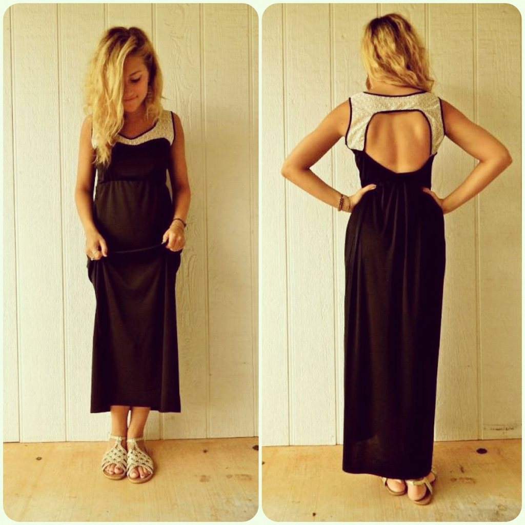 MAXI-mizing my wardrobe  Had to incorporate some of my timeless favorites: cutouts and lace
