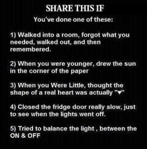 I've done all of those (: