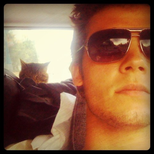 Kitty & I coming home  (Taken with instagram)