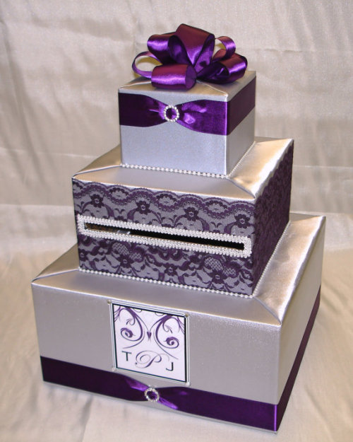 Custom Wedding Card Boxes!  I think having wedding card boxes is darling. It eliminates any confusion about where to put the cards, where the cards went, who has this and that and the other thing and all of that. Who needs more drama on their wedding day? And these perfectly customized boxes? LOVELY.