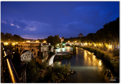 Rome,L'isola tiberina by night (by ☼DANY1926 ☼)