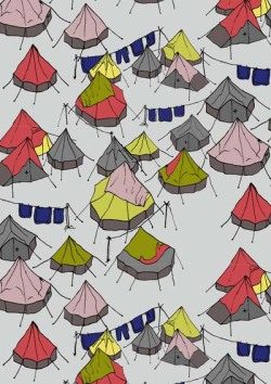 patternbase:   This tent design is by Clare Vickeryhttp://www.www.clarevickery.com Throughout the duration of our Kick Starter campaign, we'll be giving you sneak peeks of the submissions we've been receiving for our upcoming publication, 'PATTERNBASE'. http://www.kickstarter.com/projects/kristiomeara/patternbase-a-book-of-contemporary-textile-and-sur