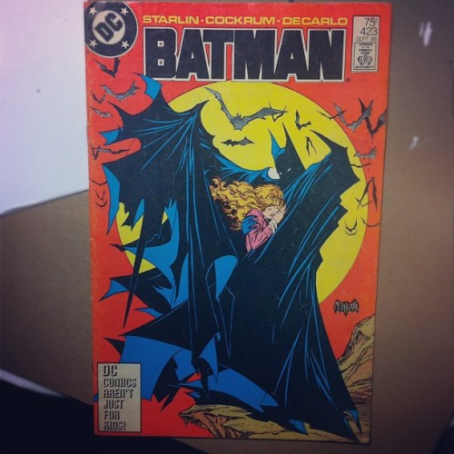 Was given a Batman #423 tonight. Cover by Todd McFarlane. Pencils by Dave Cockrum.