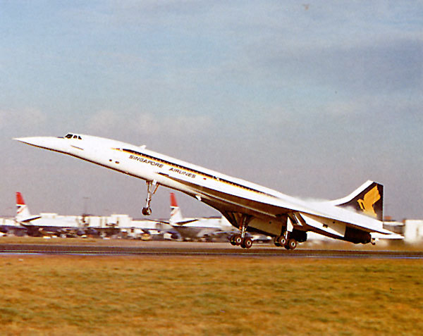 sebchan:  Concorde's Joint Venture (other than BA and Air France) between Singapore Airline and British Airways, with a mixed cabin crew in 1977.  Concorde's SIA landing at Changi Airport (SIN) in 1977-81.