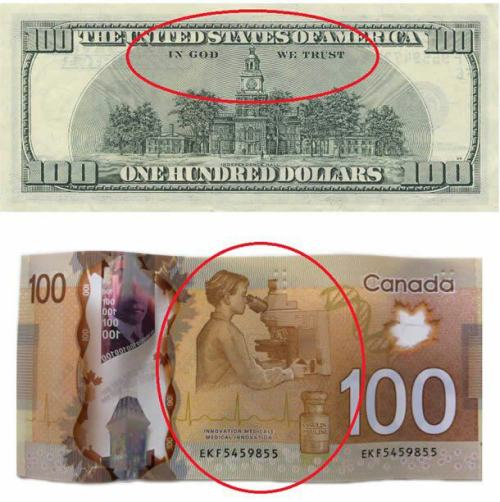 atheistoverdose:  Good guy canada. this is our new money.follow for the best atheist posts on tumblr