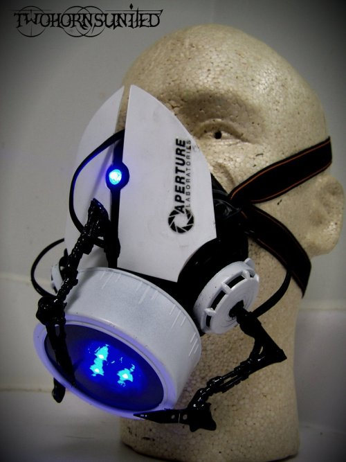 "The Aperture Science""portal gun"" gas mask v1 by ~TwoHornsUnited"