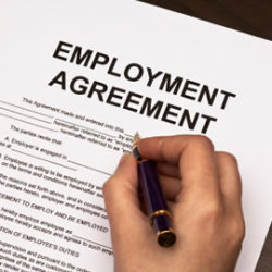 There should be a written employment agreement between the employer and the employee to avoid liabilities and lawsuits. This should contain employment policies and procedures to ensure compliance with local, state and federal laws.