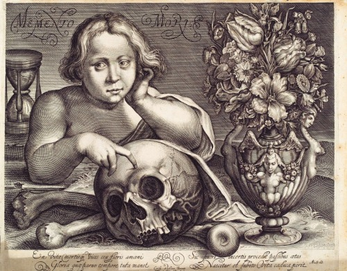 portailblog:  Memento Mori by Chrispyn de Passe (1601-1650) (Source : Herzog August Bibliothek)