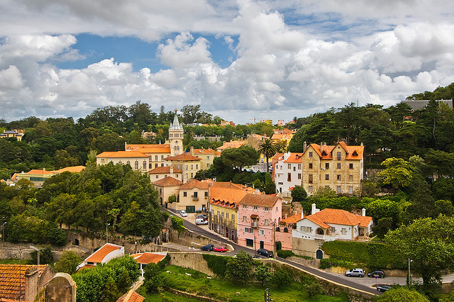 | ♕ |  Lovely town view - Sintra, Portugal  | by © Pedro Szekely