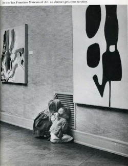 """At the San Francisco Museum of Art, an abstract gets close scrutiny."" <3 this."