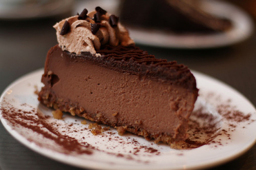 clottedcreamscone:  Chocolate Cheesecake by sweeteats on Flickr.