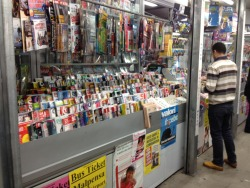 Underground central station.. impossible not to find a newsagent's!