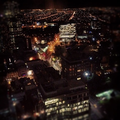 The view of Melbourne from the club floor of our hotel. Taken with Instagram.