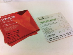Cheapo flyers we made for the Design Symposium and Sneaky Minds workshop - two events we are producing at Vivid Festival. www.vividsydney.com for tickets & info.