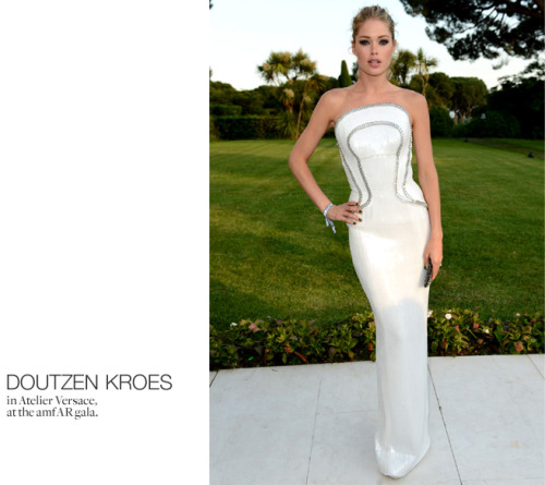 Doutzen Kroes in Atelier Versace @Cannes