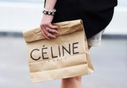 Celine shopping bag - definitely today's accessory of the day.