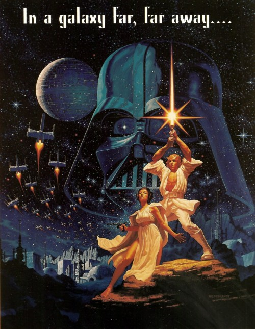tiefighters:  35 Years Ago Today… Star Wars (A New Hope) was released in theaters for the first time.  It went on to become the highest-grossing film of all time (up to that point). Adjusted for inflation, it comes in at number 3 in the list of highest-grossing films ever made right behind Avatar (2009) and Gone With The Wind (1939). If you were to include toy/merchandise sales into the mix, it would take the top spot by a very wide margin. It isn't all just about making money. It currently averages an 8.8/10 on IMDB which places it at #17 all time as voted by users.