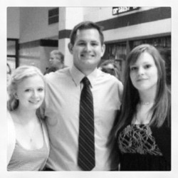 @jameee34 with her favorite #coach. #graduation  #middleschool  (Taken with instagram)