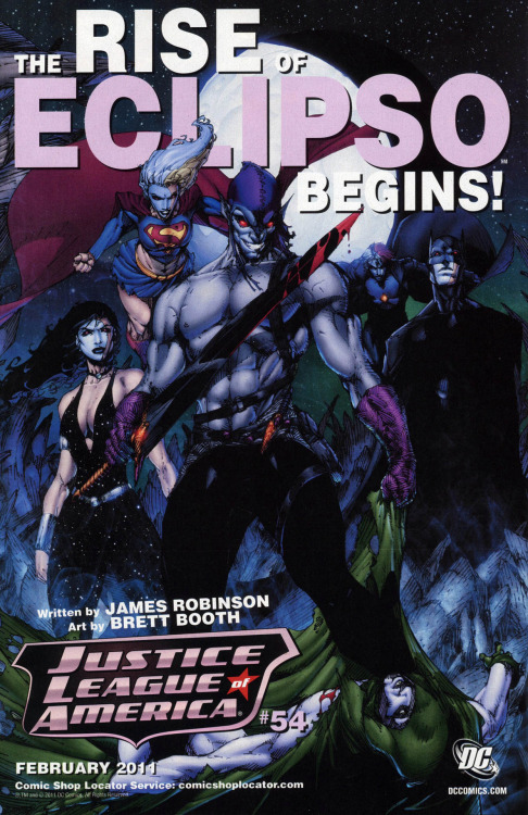 Rise of Eclipso Promo for Justice League of America.