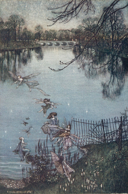 Arthur Rackham illustrates Peter Pan in Kensington Gardens by JM Barrie