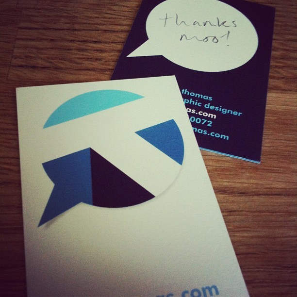 @TalkThomas's latest moo.com Business Cards