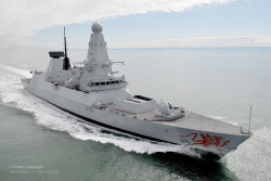 Royal Navy Type 45 Destroyer HMS Dragon by Defence Images on Flickr.