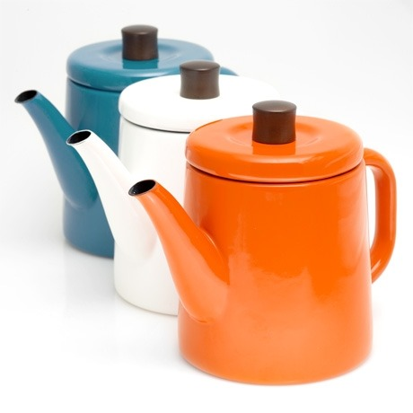 Japanese cast iron kettle that can be taken from the stove top to your table for tea from Poketo.