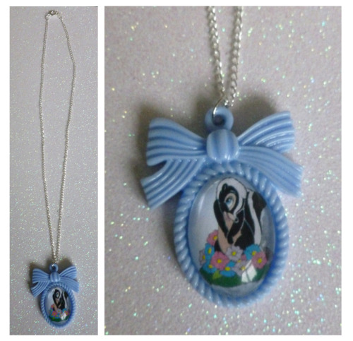 calamityjaynedesigns:    Flower from Bambi Cameo Necklace These are £4.99 + P&P available from my Etsy shop - www.etsy.com/shop/CalamityJayneDesigns or direct from me here! If there is anything personalised you would like please message me :]