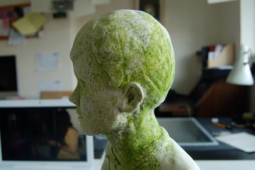 Moss Boy on Flickr. Work In ProgressRecently I have been working on a larger scale porcelain boy. I may have left him a little too long whilst being busy with the Art Fair!