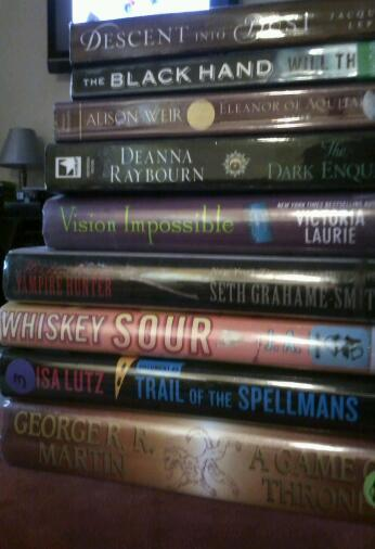 A stack of books I am going to read this weekend :)