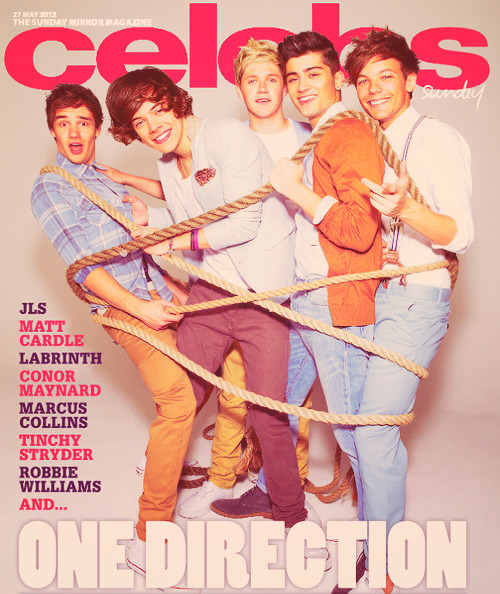 1D on the cover of the Sunday Mirror Magazine (c)