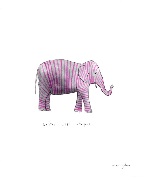 better with stripes (by Marc Johns)