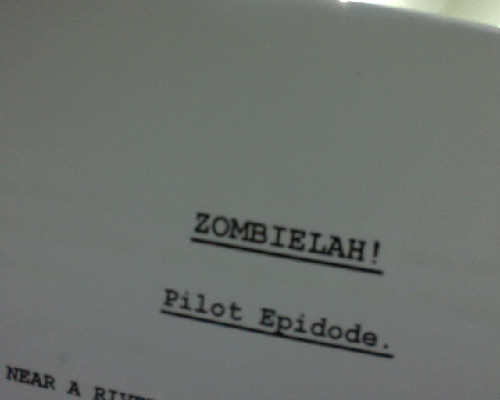 "Hey guys! I'm going to be in a new web-series called Zombielah! in the making!Yes ""Episode"" is spelled wrongly, shut up. :PStay tuned tho! xxx"