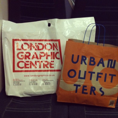 YAY! CONSUMERISM!… #NewShit #UrbanOutfitters #LondonGraphicCentre #London #Canvas #Paint #Jacket #Shopping (Taken with instagram)