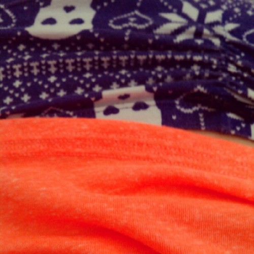 Neon shirt & skull undies. (Taken with instagram)