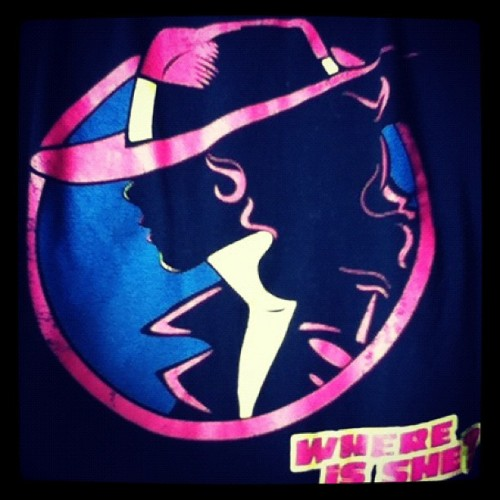 From a fellow designer - today's shirt. Great mash up of Dick Tracy and Carmen Sandiego. (Taken with instagram)