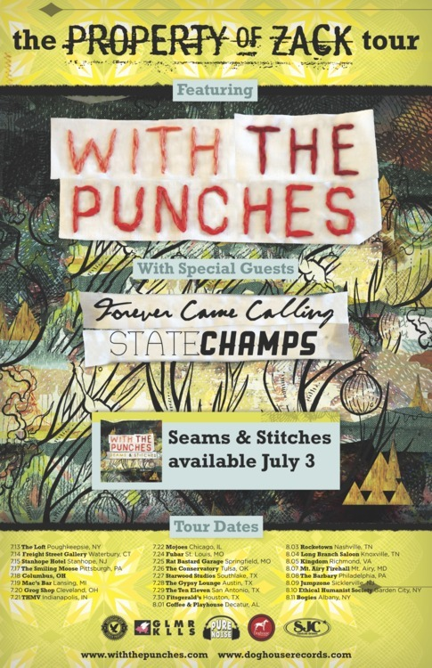 sjcdrums:  Don't miss out on the @propertyofzack tour with @withthepunches @heyitsfcc & @state_champs coming up in July! Scope dates here!