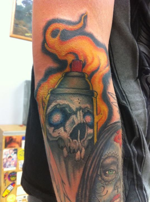 spray can skull