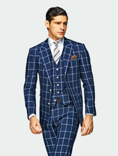 thetieguy:  bold suit. love this!  Dare to wear a suit like this!!!