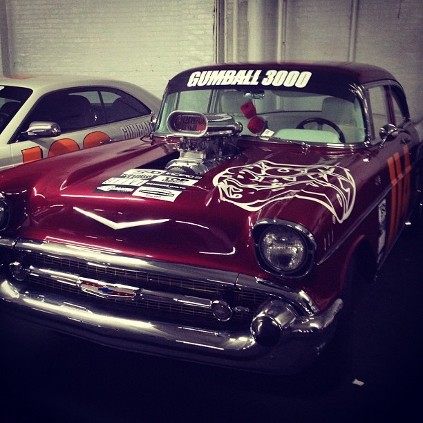 Gumball 3000: '57 Chevy parked in the garage last night
