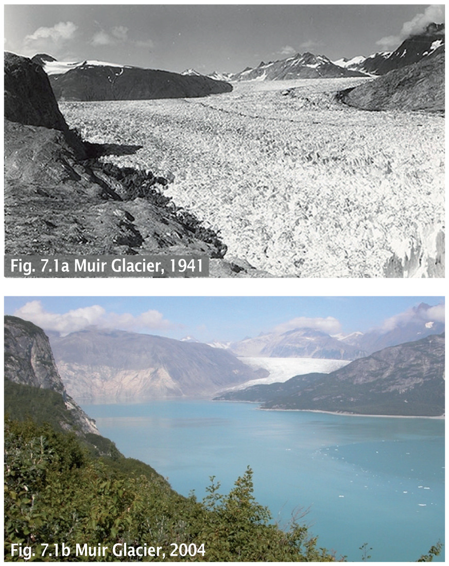 The Muir Glacier in Alaska