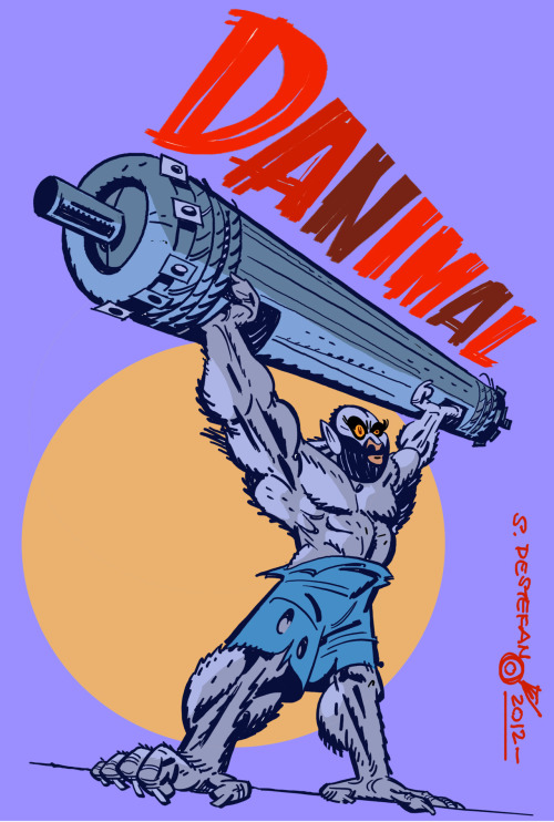 "Color illustration for Dan ""DANIMAL"" Romano, heading into the Crossfit Regionals today."