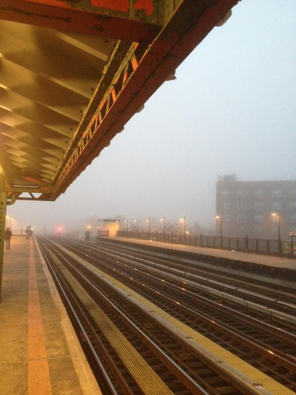Fog, Roosevelt Avenue. Courtesy of @joeytrom.