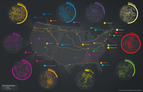 Mapping America's bike lanes.