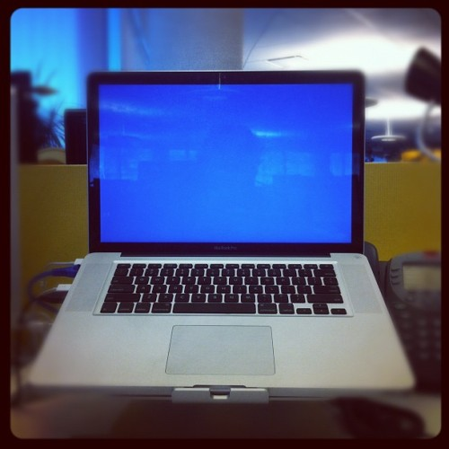 MacBook's got the blues (Taken with instagram)