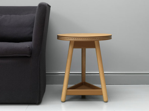 This is the Brogue table by G&T, a new British furniture brand co-founded by Bethan Gray (who served as Habitat's head of furniture up until 2008). It's designed to age as well as a classic pair of brogues, hence the name - and the wax-thread stitched trim.