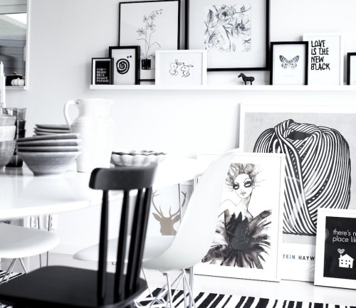 monochrome (via Nordic Bliss)