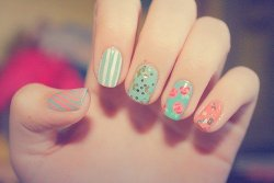 Everything Did :) / Pastel Colored Nails :) on We Heart It. http://weheartit.com/entry/29251038